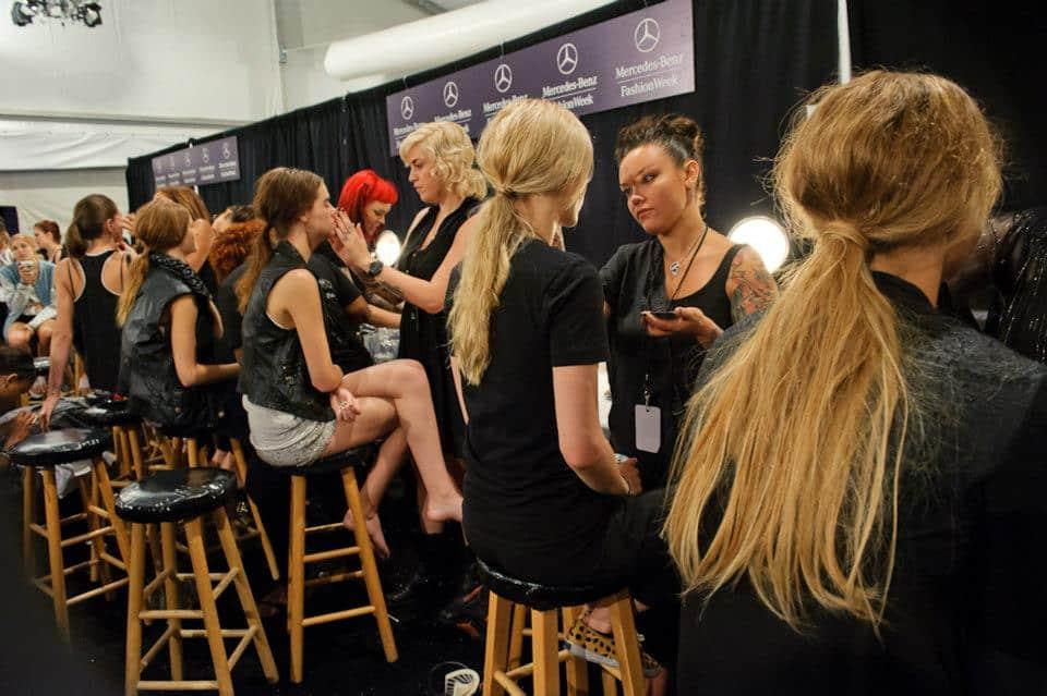 Cutler Salon backstage at Mercedes-Benz Fashion Week.