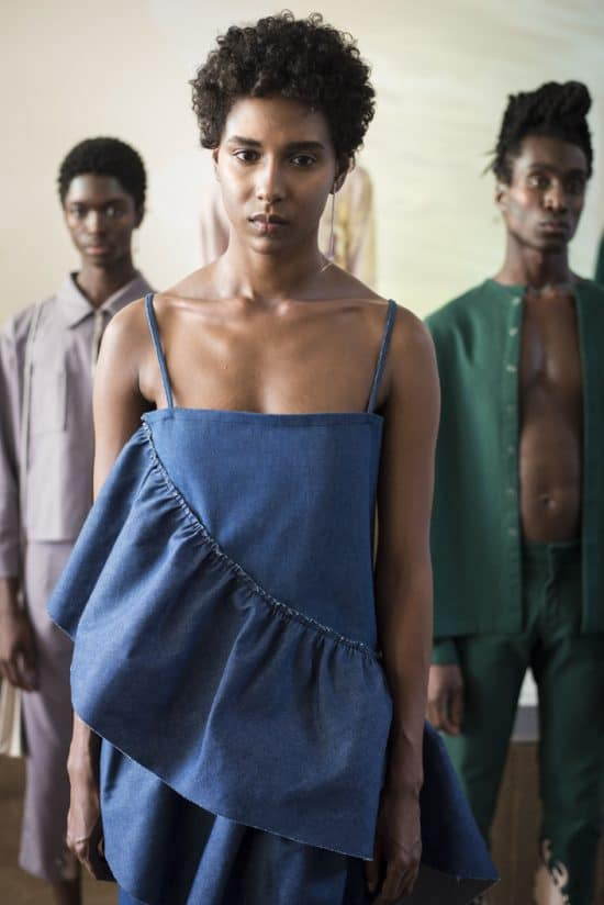 Models dressed in pieces from the Collina Strada NYFW presentation.