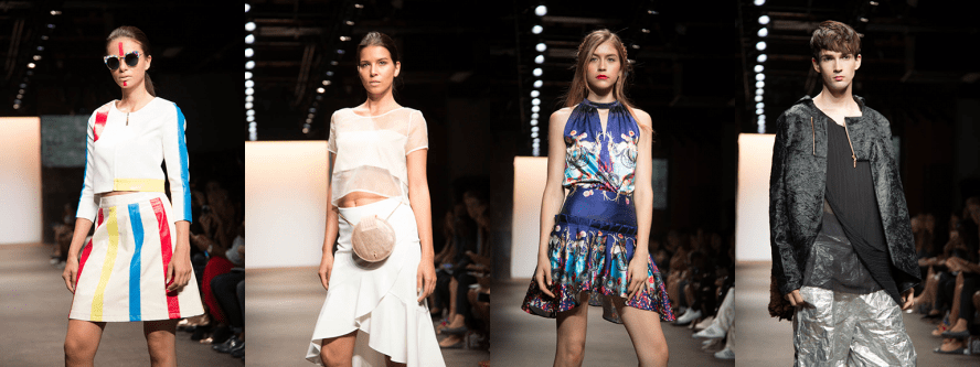 Models in looks by various designers from the NOLCHA Fashion Week runway